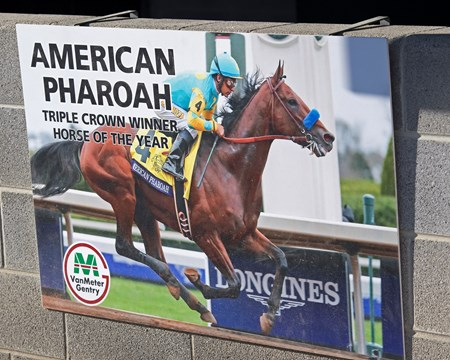 American Pharoah sign at VanMeter-Gentry Sales. Scenes and people at Keeneland January Sales 2018. Ky. Jan. 6, 2018  in , KY.