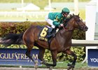 Mask and Javier Castellano win the Mucho Macho Man Stakes at Gulfstream Park