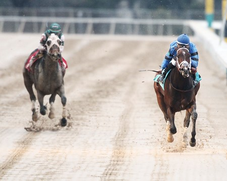 Swing and Sway wins the 2018 American Beauty Stakes