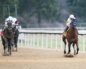 Mourinho captures the Smarty Jones Stakes in 1:37.25, the second-fastest time in the history of the race