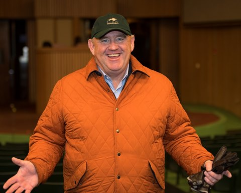Keeneland vice president of racing and sales Bob Elliston is all smiles after a strong Keeneland January sale