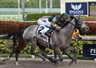 Jordan's Henny gets up in the final strides to win the Hurricane Bertie at Gulfstream Park