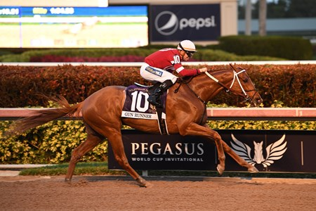 Gun Runner wins the 2018 Pegasus