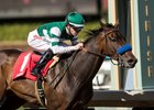 Edwards Going Left wins the California Cup Sprint at Santa Anita Park