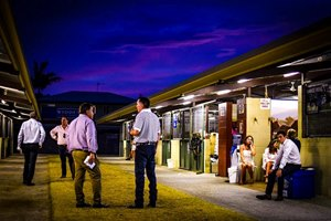 A scene from the Magic Millions Gold Coast yearling sale, where records tumbled after six days of action