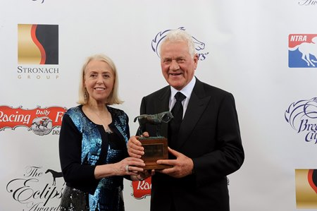 Frank Stronach (pictured with wife Frieda) has won 12 previous Eclipse Awards
