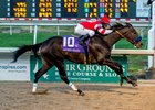Instilled Regard draws clear for a 3 3/4-length win in the Lecomte Stakes at Fair Grounds Race Course