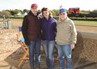 Don Von Hemel (right) and son Donnie K. Von Hemel (left) with racing analyst Nancy Holthus at Oaklawn Park