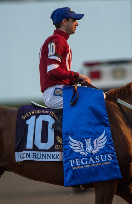 Gun Runner Florent Geroux Up wins The Pegasus Cup
