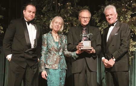 Andy Stronach, Elfrieda Stronach, Larry King and Frank Stronach at the 34th Annual Eclipse Awards.