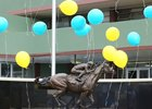 The American Pharoah statue is unveiled Jan. 11 at Oaklawn Park
