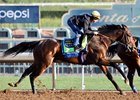 McKinzie works under Drayden Van Dyke Feb. 3 at Santa Anita Park