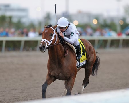 Audible wins the 2018 Holy Bull Stakes