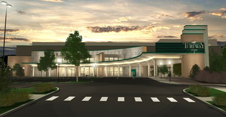 A rendering of planned renovations for Turfway Park