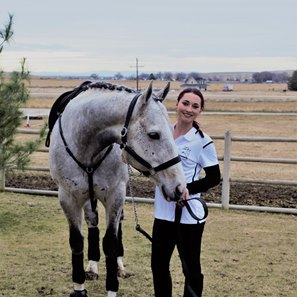 The Pamplemousse and show horse trainer Stevee Keller in Idaho
