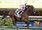 Economic Model wins the Hal's Hope Stakes at Gulfstream Park