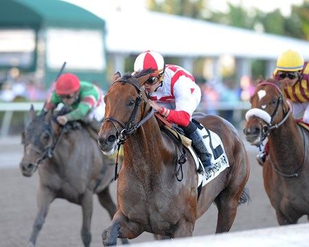 Economic Model wins the 2018 Hal's Hope Stakes
