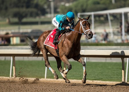Roy H and jockey Kent Desormeaux win the G2, $200,000 Palos Verdes Stakes, Saturday, February 3, 2018 at Santa Anita Park, Arcadia CA