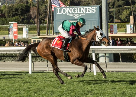 Pulpit Rider wins the 2018 California Cup Oaks