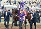 Mendelssohn after winning the Breeders' Cup Juvenile Turf at Del Mar