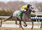 Skyler's Scramjet wins the Tom Fool Handicap at Aqueduct Racetrack