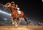 Rayya wins the UAE Oaks at Meydan Racecourse
