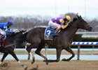 Midnight Disguise wins the Busher Stakes at Aqueduct Racetrack