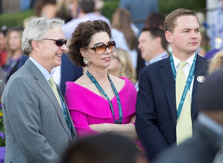 l-r, Lee and Ramona Bass and their son, Perry.