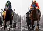 Bolt d'Oro (left) and McKinzie (right) could face off in the San Felipe Stakes at Santa Anita Park