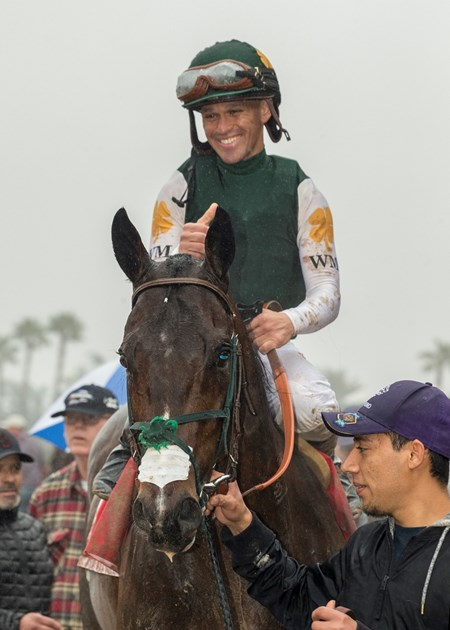 Bolt d'Oro wins the 2018 San Felipe Stakes via DQ