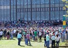 A crowd of 37,500 enjoys the Rebel Stakes at Oaklawn Park