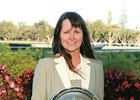 Trainer Kathleen O'Connell is the first woman to win a training title at Calder.