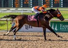 Mobile Bay blasts to the finish in the Star Guitar Stakes at Fair Grounds Race Course