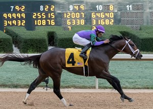 Magnum Moon wins the Rebel Stakes at Oaklawn Park