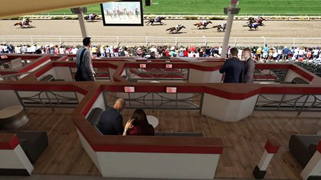 Upscale Seating Area The Stretch Planned For Saratoga Bloodhorse