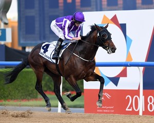 Mendelssohn, with Ryan Moore up, wins the UAE Derby by 18 1/2 lengths at Meydan