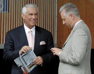 D. Wayne Lukas and Todd Pletcher at Churchill Downs in 2007