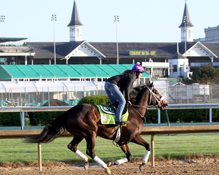 Bravazo on the track at Churchill Downs on April 30, 2018