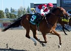 Summer Sunday wins the Fury Stakes at Woodbine, where she is 4-0
