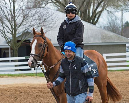 Good Magic Morning works, gallops and training scenes at Keeneland in Lexington, Ky. April 3, 2018 Keeneland in Lexington, Kentucky.