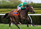 Sistercharlie takes the Jenny Wiley Stakes at Keeneland