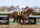 National Flag wins the Bay Shore Stakes at Aqueduct