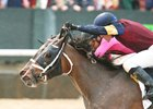 Sassy Sienna (inside) edges Wonder Gadot in the Fantasy Stakes at Oaklawn Park