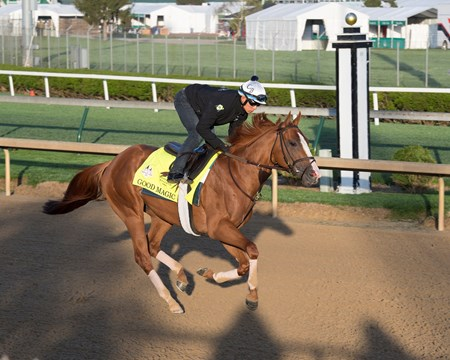 Good Magic with Walter Malasquez Morning scenes at Churchill Downs on April 27, 2018 Churchill Downs in Louisville, Ky.