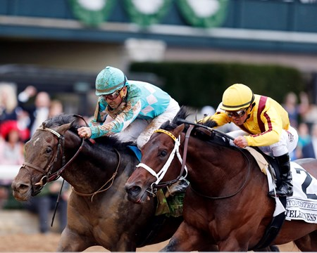 My Boy Jack with Kent Desormeaux up wins the 2018 Stonestreet Lexington for trainer Keith Desormeaux and owners Don't Tell My Wife Stables and Monomoy Stables, 2018 Keeneland Spring Meet