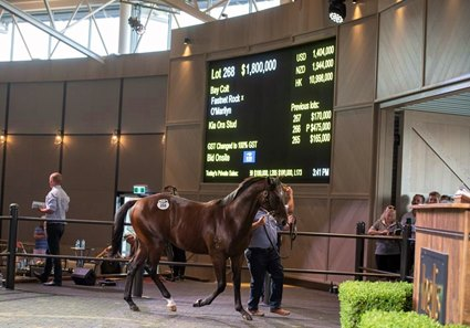 A Fastnet Rock colt consigned as Lot 268 tops Day 2 of the Inglis Bloodstock Easter sale