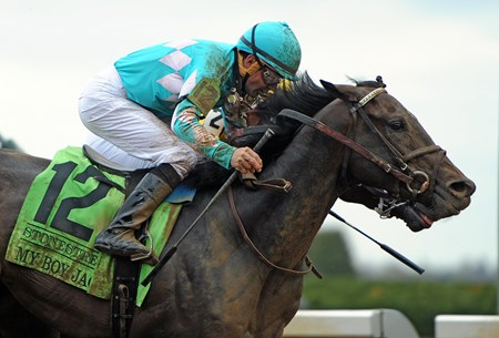 April 14, 2018 My Boy Jack, Kent Desormeaux up, wins the Gr.3 Stonestreet Lexington Stakes at Keeneland