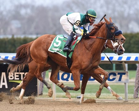 Blue Prize wins the Top Flight Invitational Stakes at Aqueduct