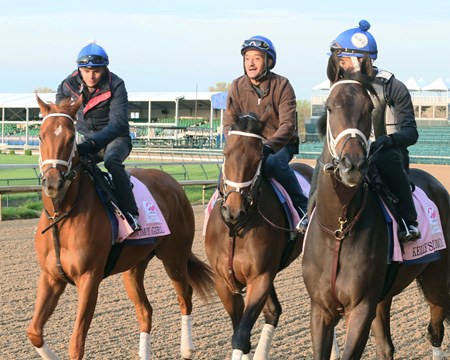 Monomoy Girl, Sassy Sienna, and Kelly's Humor - Gallop - Churchill Downs - 042618