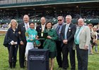 Kirk Godby (second from right) and connections of My Boy Jack accept the trophy from Stonestreet's Barbara Banke for the Lexington Stakes at Keeneland